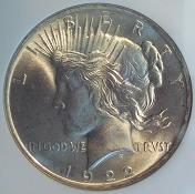 1922 Peace Dollar Obverse