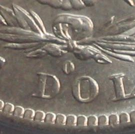 Morgan Dollar Mint Mark up close