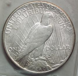 peace dollar reverse