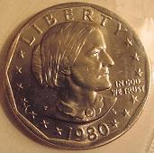1980 Anthony Dollar Obverse